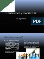Clima ético y moral en la empresa