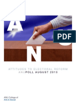 ANUpoll Report August 2014 Attitudes Electoral Reform