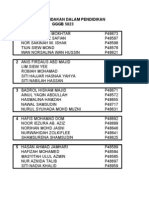 Senarai Nama Ahli Kumpulan Kajian Tindakan