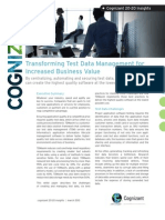 Transforming Test Data Management for Increased Business Value