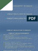 Conflict Management Techniques12