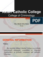 Criminology Orientation
