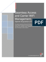 Seamless Access and Carrier WiFi Management,  New Frontier for Policy Control