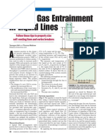 Reduce Gas Entrainment in Pipe Flow
