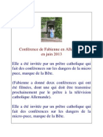 Conference de Fabienne en Allemagne