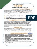 Selebaran Pencegahan Flu Babi