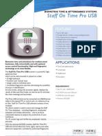 Biometrics SoTproUSB