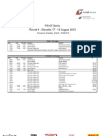 FIA GT Series Slovakia Timetable Draft 6 05.08.2013