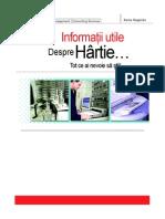 Informatii utile despre Hartie