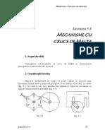 Laborator L4 - MECANISME CU CRUCE DE MALTA