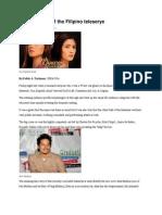 The evolution of the Filipino teleserye