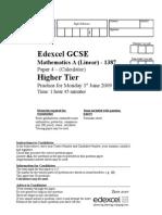 2009 Practice Calc