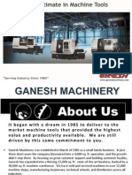 The Ultimate in Machine Tools