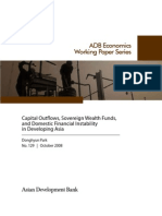 Capital Outflows, Sovereign Wealth Funds, and Domestic Financial Instability in Developing Asia