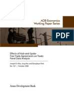 Effects of Hub-and-Spoke Free Trade Agreements on Trade