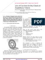 Structure Analysis of Cast Iron for Dry Clutch of