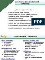 B208 Access & Constraints