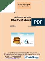 Ordenación Territorial  OBJETIVOS SOCIALES (Es) Spatial Planning. SOCIAL GOALS (Es) Lurralde Antolaketa. GIZARTE HELBURUAK (Es)