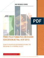 PMRC Policy Analysis Higher Education Act No. 4 of 2013