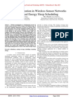 Lifetime Maximization in Wireless Sensor Networks Using Residual Energy Sleep Scheduling
