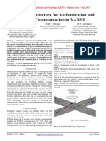 A Novel Architecture for Authentication and Secure Communication in VANET