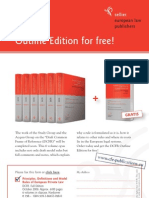 DCFR OutlineEdition 2009