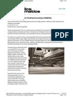 Pneumatics Ensures Food-processing Reliability
