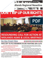 PCS Union Midlands Regional Newsline Spring 2013