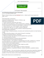 Reviewer - Architectural Board Exam Reviewer
