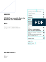 S7-300 Programmable Controller Hardware and Installation, 10-1999