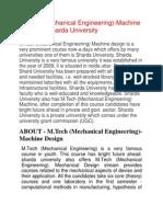 (2-AUG-13) M.tech (Mechanical Engineering) Machine Design