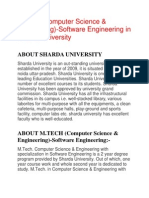 M.tech (Computer Science & Engineering)-Software Engineering (31-July-13)
