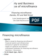 Lecture - Financing Microfinance