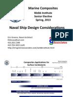 Marine Composites - Naval Ship Design Considerations (Presentation)