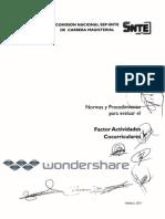 123normas y Procedimiento Factor Actividades Cocurriculares-2011