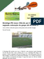 Botafogo-PB vence CSA-AL por 2 a 0 e volta a segunda colocação do grupo A4 da Série D