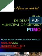 Pdmo Municipio Curahuara de Carangas 2007-2011