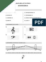 Exercícios da Apostila básica de Teoria Musical - F. Soyer