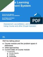Course for Drupal Quiz - Presentation