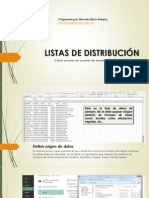 Listas de Distribución, Google.