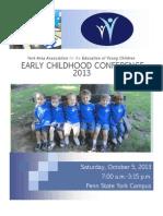 2013 YAAEYC Conference Brochure