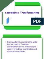 Coordinates Transformations