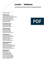 Editorial Pay Audit Roles and Minimum Salaries