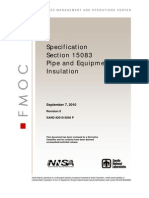 15083 Pipe and Equipment Insulation 0910