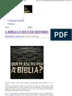 A BÍBLIA E SEUS ESCRITORES _ Portal da Teologia.pdf