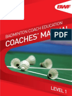 Badminton Coaches Manual Level 1
