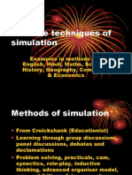 Creative Techniques of Simulation