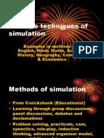 Creative Techniques of Simulation