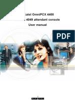 Alcatel OmniPCX 4400, Alcatel 4049 attendant console user manual