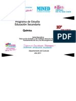 Programa (Química 10º Grado)